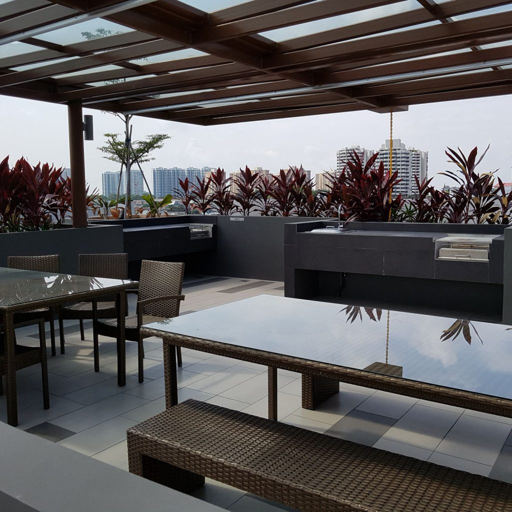 BBQ Facilities at Rooftop of Sunnyvale Residences